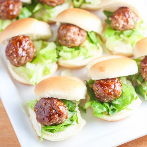 Chinese Meatball Sliders