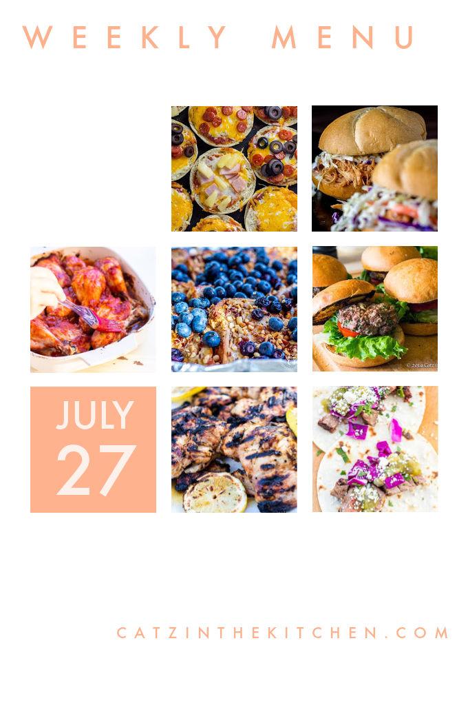 Weekly Menu for the Week of July 27