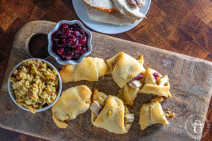 Thanksgiving leftover crescent rolls