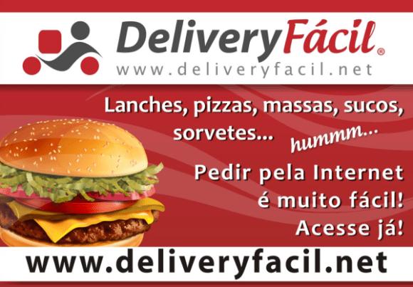 Banner de divulgação do Delivery Fácil