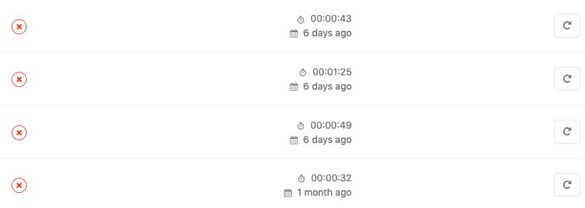 Pipelines quebrados no Gitlab-ci