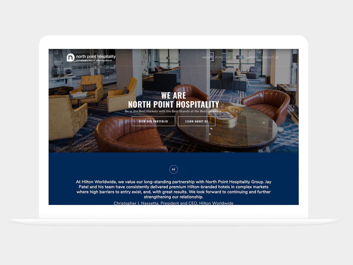 North Point Hospitality Website Redesign