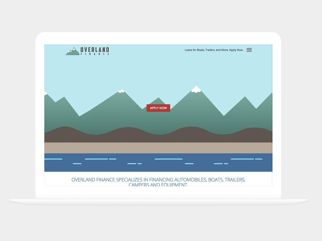 Overland Finance Website Design