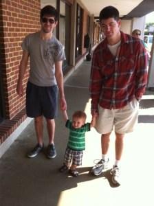 Caleb, Gregory, and Stuart Caudill
