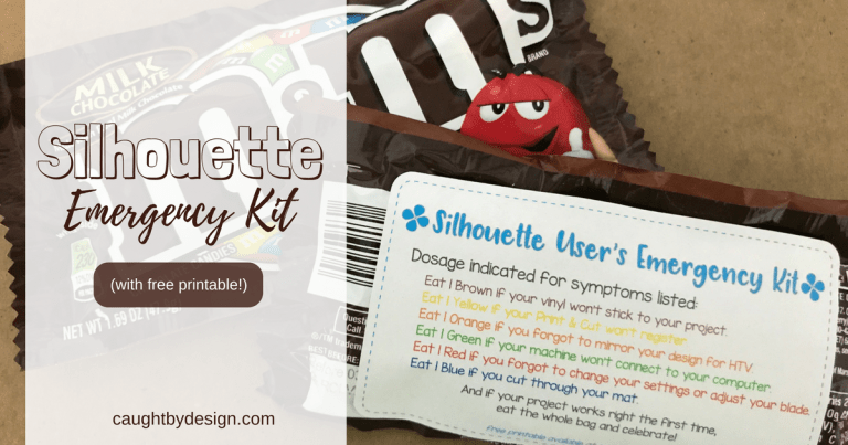 Silhouette Emergency Kit – A Super Simple Swap Idea (includes free printable)