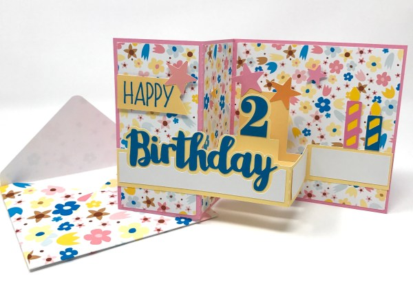 Silhouette Studio, Fill Pattern, Birthday Card, Print & Cut