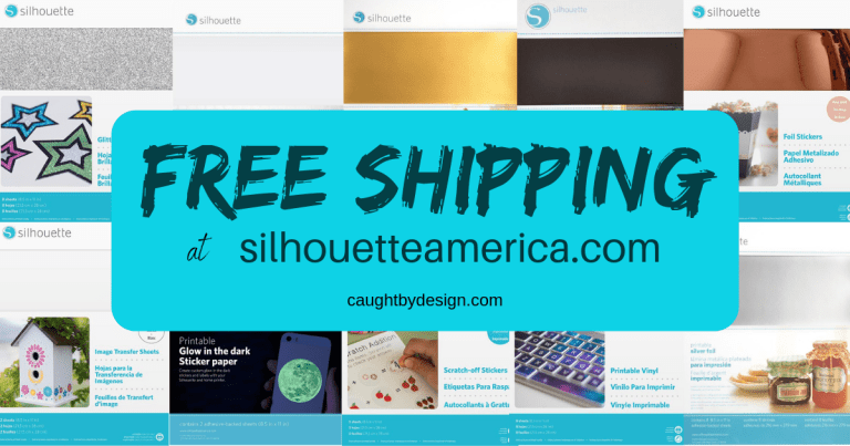 It's SALE time (and FREE SHIPPING!!!) at Silhouette America
