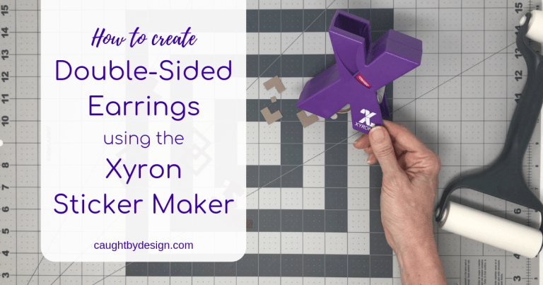 Double-Sided Faux Leather Earrings Using the Xyron Sticker Maker