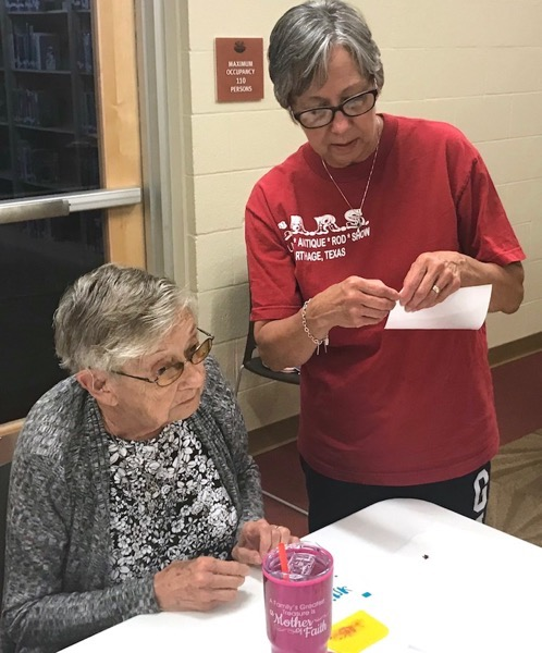 Women working together during craft class