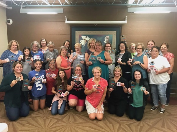 Group photo of students in craft class