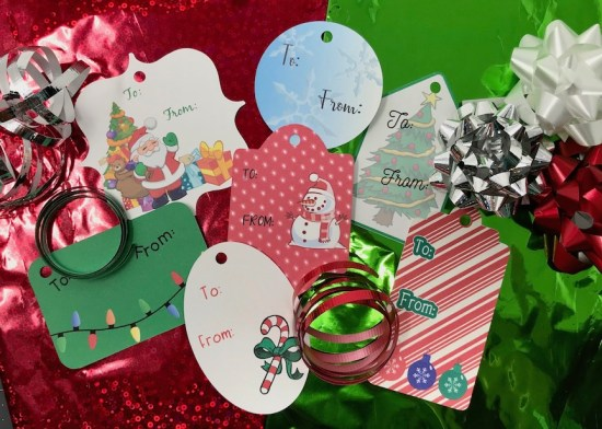 Print & Cut Gift Tags made in Silhouette Studio and Cut on Cameo or Portrait
