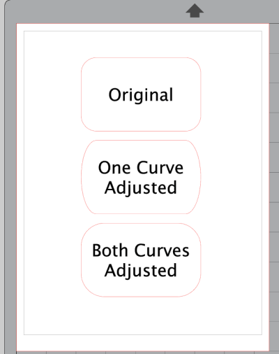 Screenshot of Adjusted Rounded Rectangle in Silhouette Studio