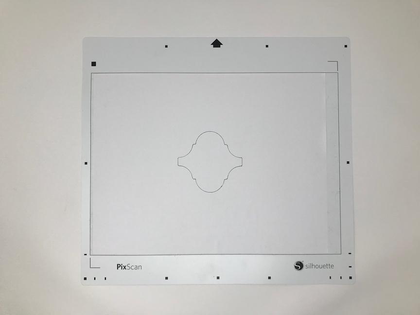 Traced outline of Arabesque tile on Silhouette PixScan mat