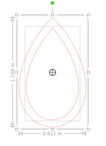 Screenshot of earring shape plus offset in Silhouette Studio