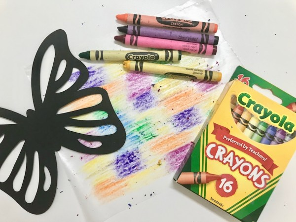 Crayon Stained Glass Suncatcher
