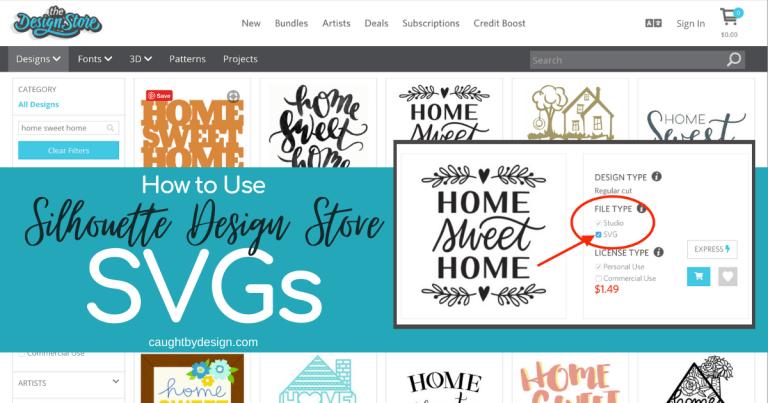 Using Silhouette Design Store SVGs