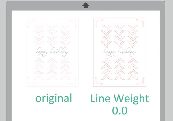 Silhouette Studio Line Weight