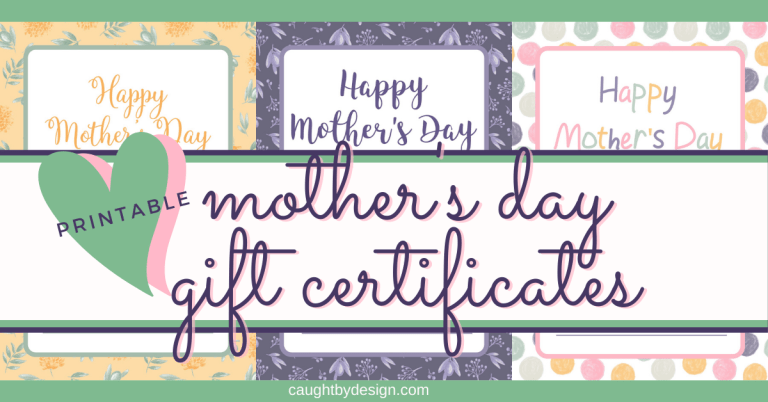 FREE Printable – Mother's Day Gift Certificates