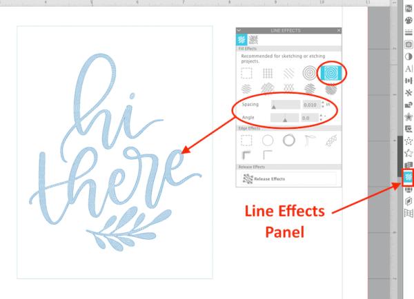 Silhouette Studio Line Effects Panel