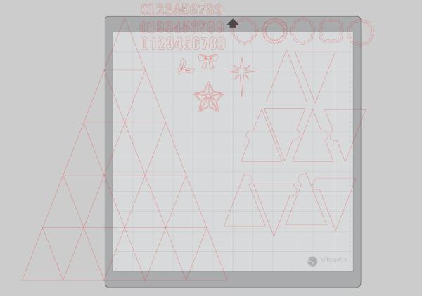 Advent Calendar Box Face File in Silhouette Studio