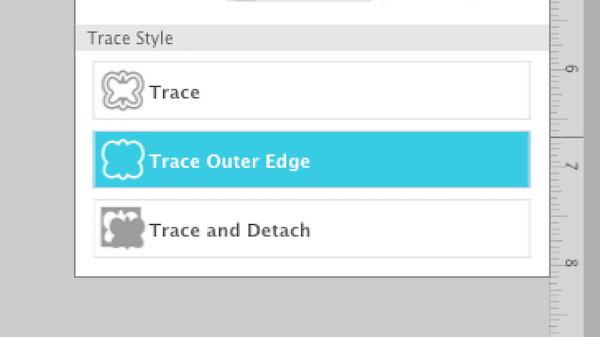Silhouette Studio Trace Outer Edge