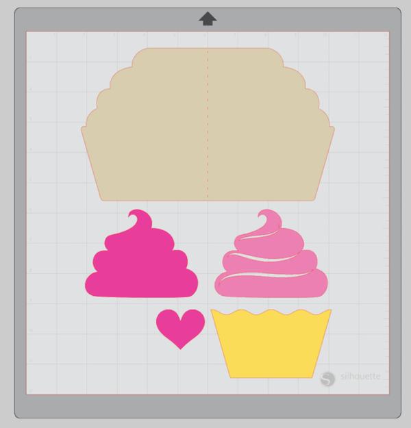 Layered Cupcake Card