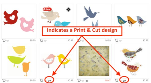 Silhouette Design Store Print & Cut Designs