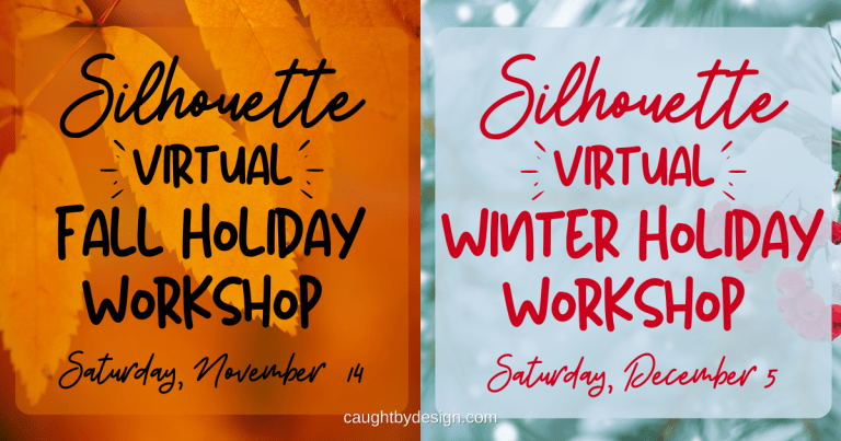 Silhouette 2020 {Virtual} Holiday Workshops