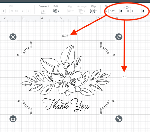Resizing a Silhouette file in Cricut Design Space