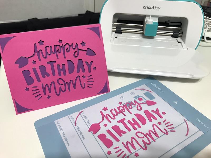 Happy Birthday card cut on Cricut Joy