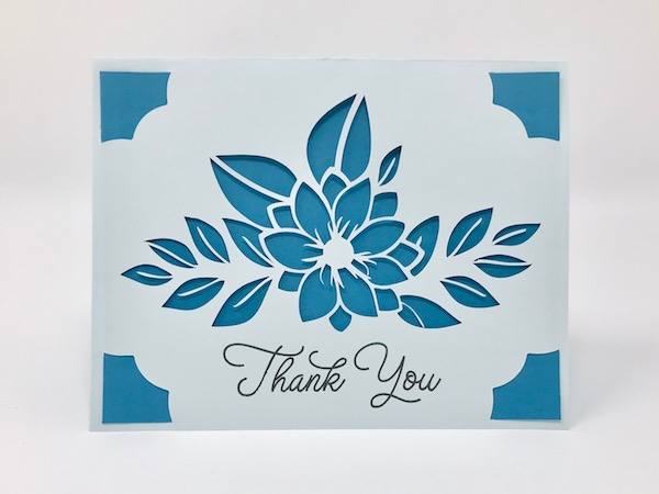 Insert card made using Silhouette file in Cricut Design Space and cut on Cricut Joy