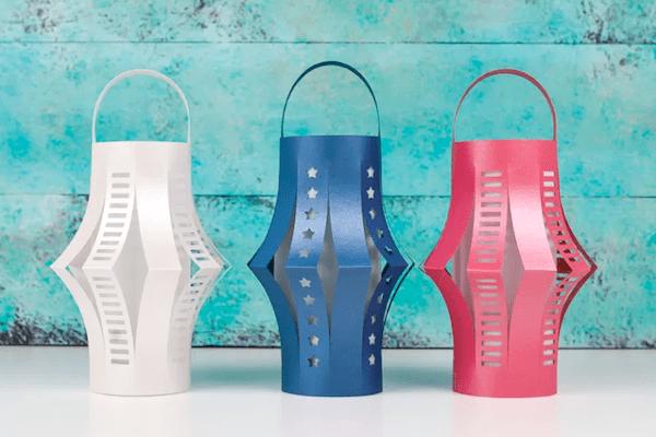 Patriotic Lanterns Free SVG