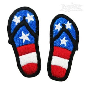 USA Flag Sandals Embroidery Design
