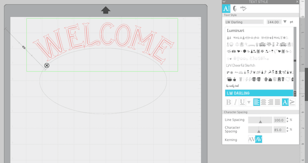 Font Size and Spacing in Silhouette Studio