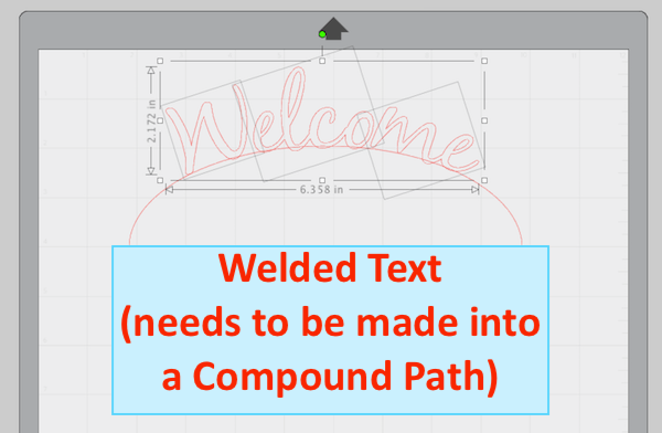 Welded Curved Text in Silhouette Studio