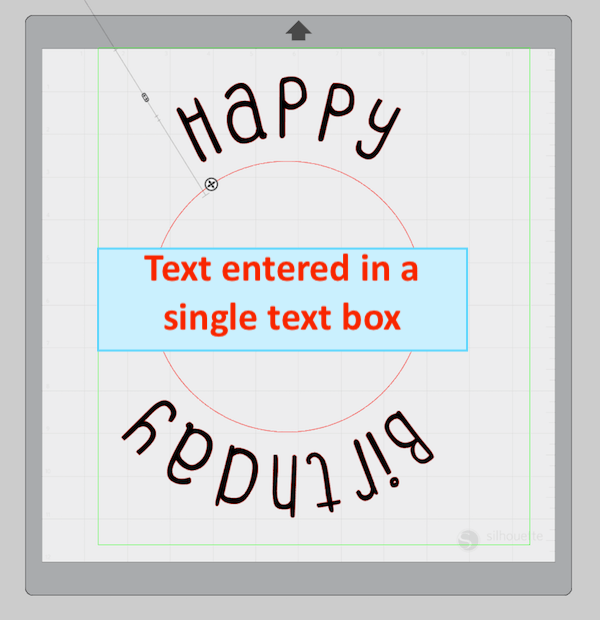 Curved Text in Silhouette Studio