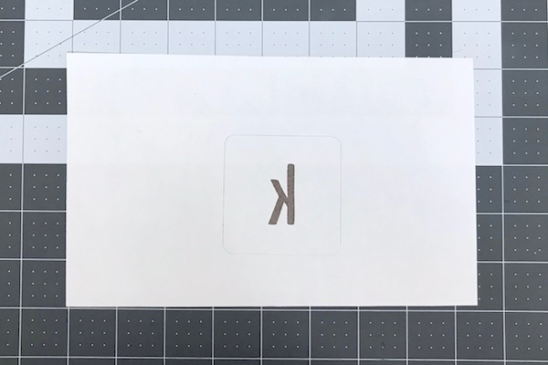 Mirrored monogram for sublimation
