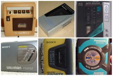 Collage of walkmans