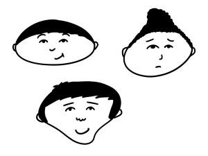 Des visages dans les formes !