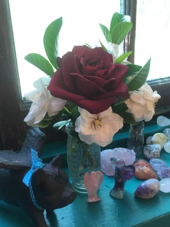 roses and gardenias