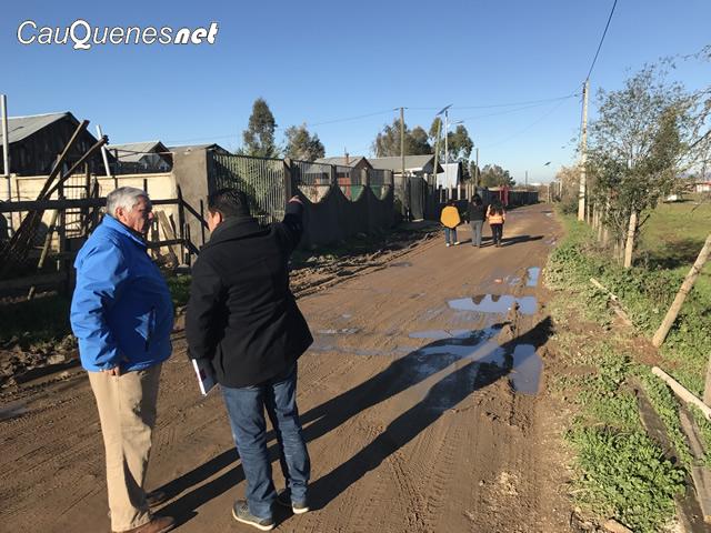 Cauquenes anunció diseño de alcantarillado-agua potable y pavimentación en 4 puntos de la comuna
