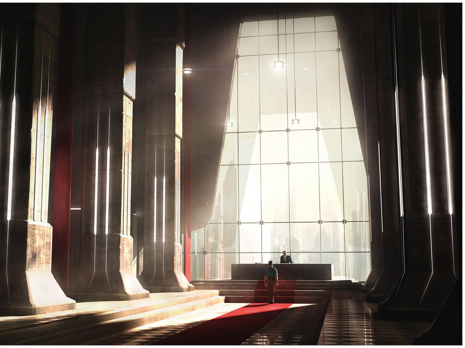 Worlds de Raphael Lacoste : la grande salle.