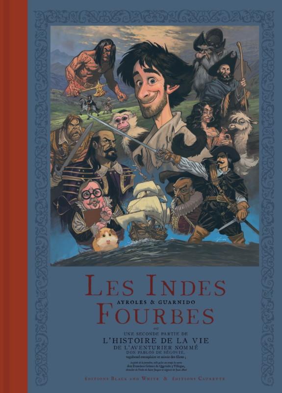 Couverture de l'édition Deluxe des Indes Fourbes, de Ayroles et Guarnido.