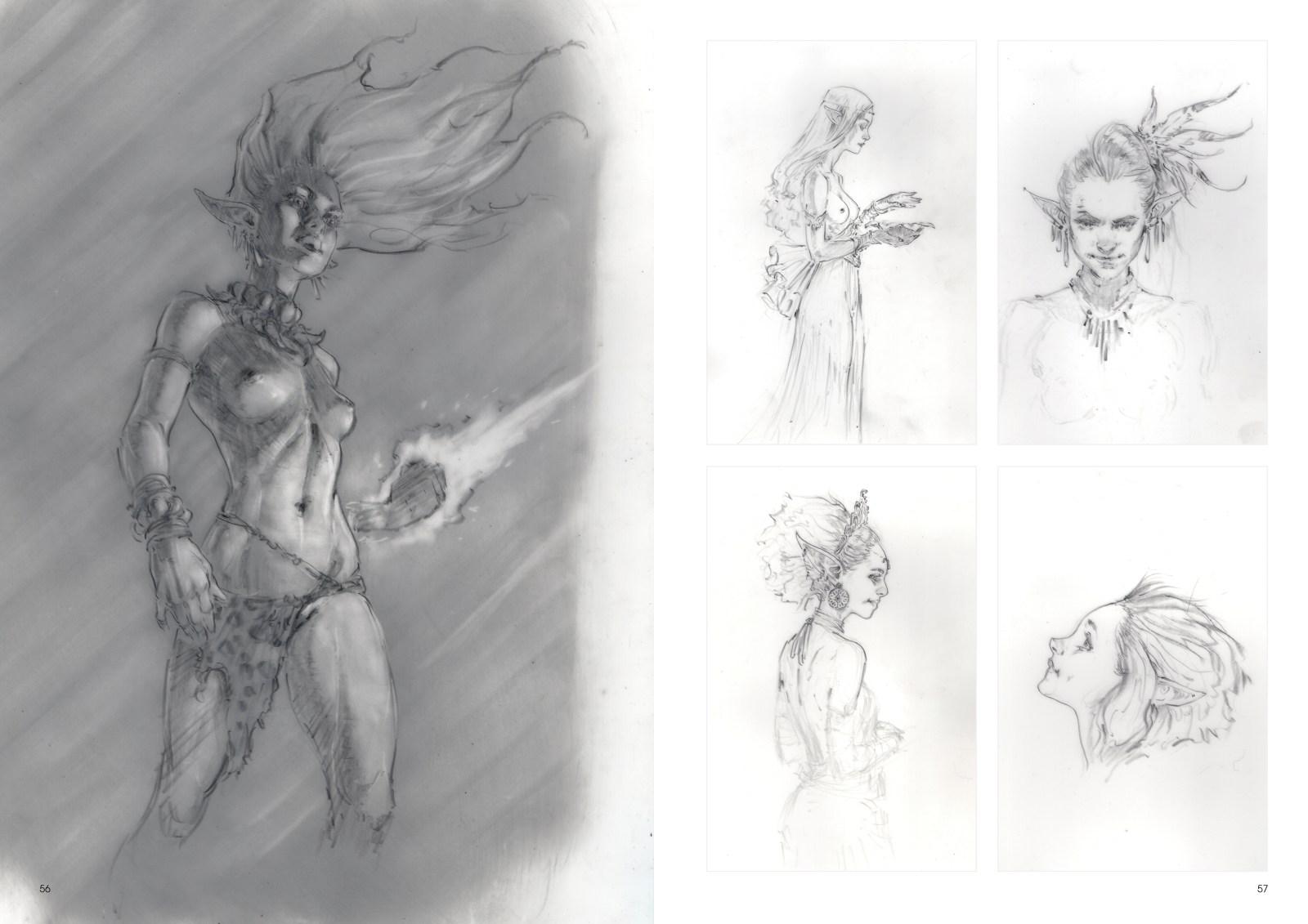 Image de l'artbook Daya de Daniel Landerman. Femmes mystqiues : du pouvoir et des sorts.