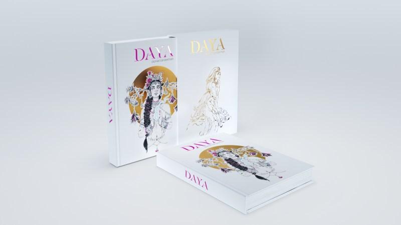 Image de l'artbook Daya de Daniel Landerman. Le livre avec son coffret.