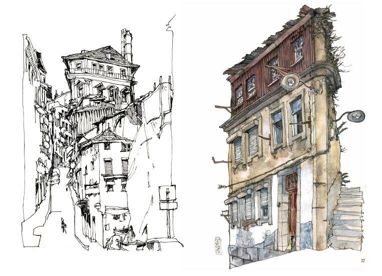 Extrait de Ce qui reste du voyage de Jorg Asselborn, dessins de rues.