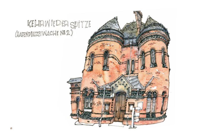 Ce qui reste du voyage de Jorg Asselborn, dessin de maison à Kehrwiederspitze.