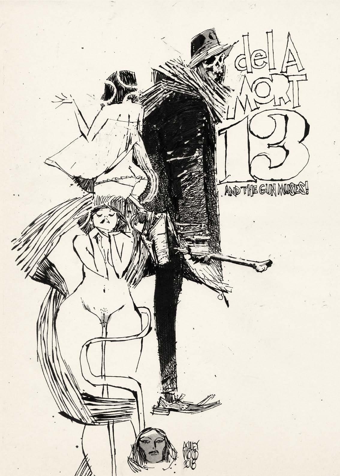 Image de l'artbook Ashley Wood - AWD XL BLACK. Muses de la mort.