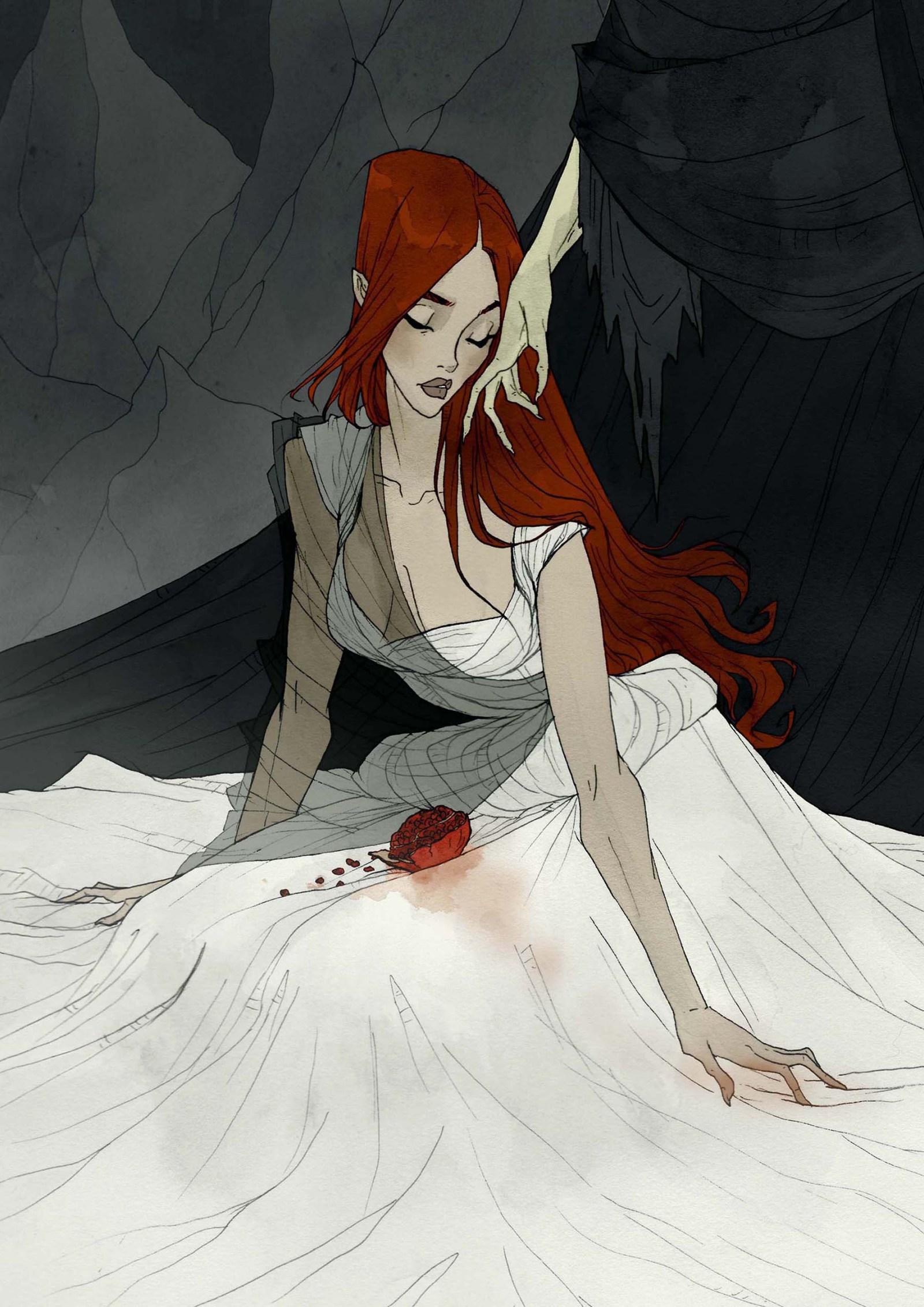 Crimson d'Abigail Larson. Persephone et Hades.