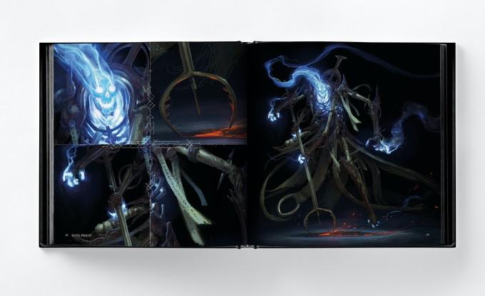 Photo du livre Abominations de Bjorn Hurri, un artbook de fantasy noire et d'horreur.
